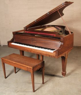 6' Mehlin & Sons N.y.c. Mahogany Baby Grand Piano