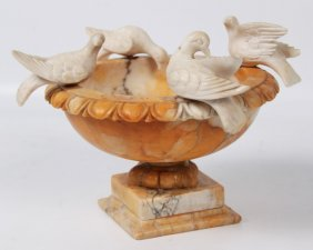 Alabaster Classical Urn Shaped Table Ornament