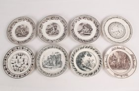Group Of 8 French Creamware Plates
