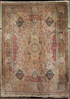 8' X 12' Persian Design Silk Rug