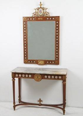 Louis Xvi Console And Matching Mirror