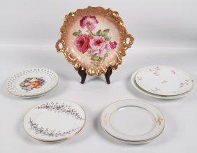 9 Piece Miscellaneous Lot Of Porcelain Plates