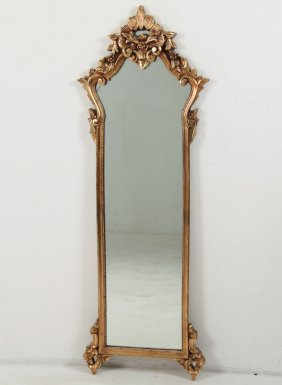Large Gold Leaf Compostition Mirror