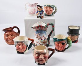 9 Piece Miscellaneous Lot Of Character Mugs