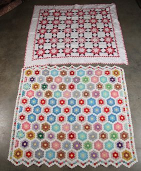 Box Lot Of Quilts And Quilt Material