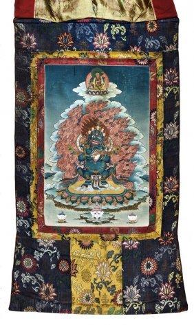 Tibetan Thangka Of Vajrapani