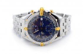 Breitling Stainless Steel Gold Men's Watch