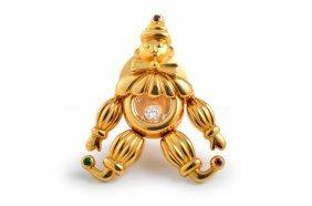 Chopard Diamond Gold Clown Pin
