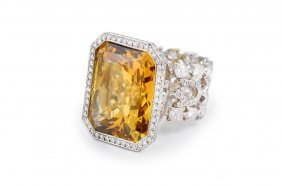 Loree Rodkin Citrine Diamond Ring