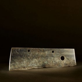 A Chinese Jade Ceremonial Blade