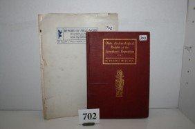 """2 Books: """"Ohio Archaeological"""