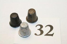 3 Miniature Thimbles