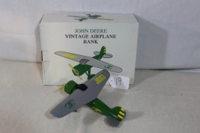 John Deere Vintage Airplane Bank