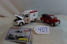 1953 Ice Cream Truck & Texaco Chevy Truck