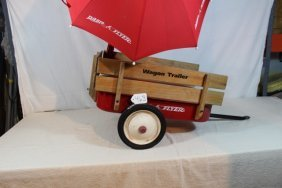 Radio Flyer Trailer W/umbrella