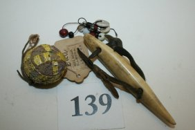 Misc. Beads, Bone Awl