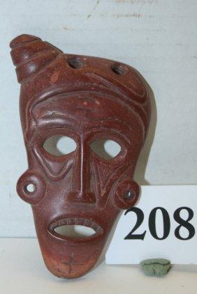 Catlinite Weeping Eye Mask Pendant