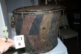 "24"" X 18"" Wood Drum"