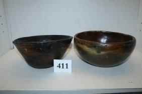 (2) Navajo Pottery Bowls