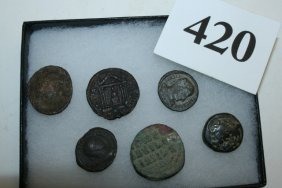 6 Ancient Roman Coins