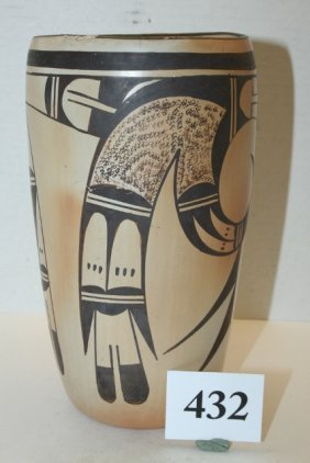 Black & White Hopi Cylinder Jar