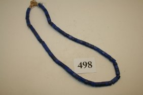 Blue Faceted Trade Beads