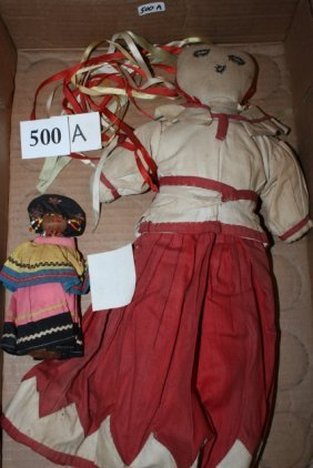 2 Dolls, Small Seminole Doll