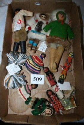 11 Assorted Indian Dolls