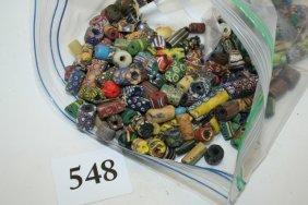 Bag Multi Colored Trade Beads