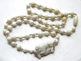 Antique Ivory Monkey Necklace
