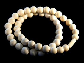 Antique Chinese Ivory Necklace
