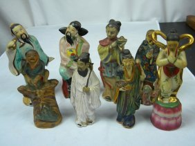 Group Of Eight Chinese Statues Eight Immortals