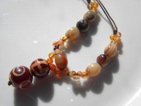 Vintage Tibet Dzi Beads Necklace