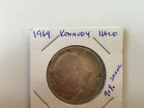 Year 1964 Kennedy Silver Half Dollar