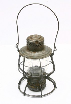 COTTON BELT ROUTE Lantern W/ Clear Embossed COTTON