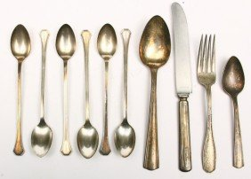 Collection Of 10 Pcs. Of R.R. Marked Flatware, 6 P
