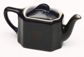 WESTERN PACIFIC Marked Cobalt Blue Tea Pot, Has Ha