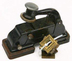 Vintage Cast Iron Ticket Validator W/ 7 Brass Stam