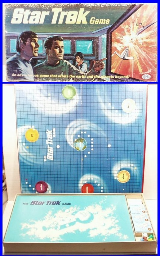 rare vintage 1967 star trek tv series board game ideal. Black Bedroom Furniture Sets. Home Design Ideas