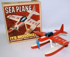 1966 Remco #750 B.o.rated Motorized Seaplane Sea Plane