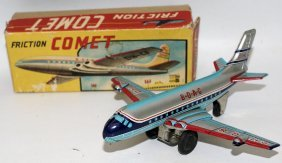 50's Tin Friction Boac Comet Dh C-8 Jetliner Airplane,