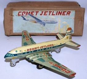 Rare Yonezawa / Etco Japan Tin Friction Comet Jetliner