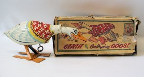 Tin Wind-up Gertie The Galloping Goose, By Unique Art