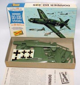 1966 Lindberg 1:72 Dornier Do-335 Wwii German Fighter
