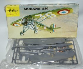 60's Heller 1:72 Morane 230 Wwii French Fighter Jet