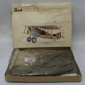 1965 Revell Spad Xiii Wwi French Fighter Airplane Model