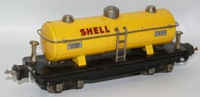 Prewar Lionel O Gauge 2815 Shell Oil Train Tank Car W/