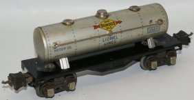 Lionel Train O Gauge 2680 Sunoco Silver Tinplate Tank