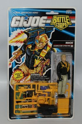 Original 1992 Gi Joe Battle Corps Mace #6758 Action