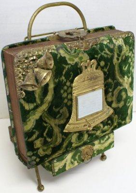 Antique Victorian Edwardian Ornate Velvet & Brass Photo